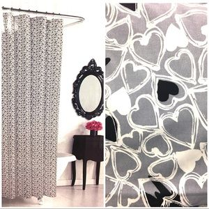 BETSEY JOHNSON Tossed Lulu Hearts Shower Curtain